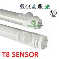 2ft 3ft 4ft T8 Tubo Led Radar Sensor De Movimento T8 LED Light Tubo 11W 16W 22W 2400lm 85-265V Led Lâmpadas Fluorescentes iluminação 100100