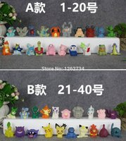 Wholesale Mario Puppets - Free Shipping EMS 20 Lot Go Finger Puppets Anime Snorlax Mew TOTODILE Piplup Lapras PVC Toys Action Figures