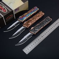 Wholesale Fish Gift Bags - MT Combat Troodon Dual Smooth Action Auto Cutting D A Tactial knife knives with bag Scarab 616 A161 A162 Xmas gift