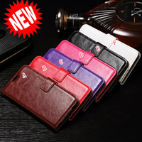 Wholesale Crazy Pockets - Oil Retro Crazy Horse Wallet Leather Flip Case For Samsung Galaxy S9 Plus NOTE8 A3 2017 A5 2017 A7 2017 A320 A520 Purse Stand Phone Cover