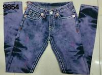 Wholesale Womens Size 26 Pants - Fashion Womens Hot brand designer robin denim Pants Female Lady true Jean Elastic Skinny Slim Eagle Wings Embroidery us size 26-32