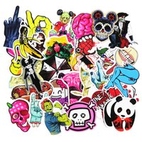 Wholesale Horror Decorations - Hot Sale 50 Pcs Horror Nausea Bloody Car Stickers for Luggage Laptop Car Waterproof Sticker Handbag Decoration DIY Decals Not Repeat