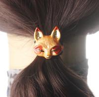 Wholesale Metal Hair Clip Ponytail - Women hair accessories Metal Animal hair clip Headband Female Ponytail Gum for Hair Headwear Elastic hairpins