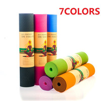 Wholesale Tpe Yoga Mats Wholesale - 183x61cm Yoga Mat 6mm Lightweight Classic Premium Non Slip Eco-Friendly with Carry Strap- 100% TPE Material Yoga Mat and Exercise Pad M02