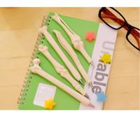 bolígrafo precioso regalo al por mayor-5 Unid / lote Huesos creativos bolígrafos bolígrafos de la novedad Encantadora pluma de hueso El mejor regalo para un amigo o un niño 1707101