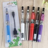 Wholesale Electronic Cigarette Pass Through Battery - CE4 Vape Pen Vaporizer with 650mah UGO T Electronic Cigarette Pass Through Battery E Cig Blister Kit Packaging USB Charger