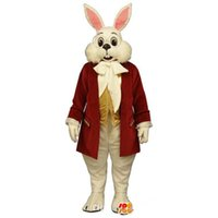 Wholesale Miffy Rabbit Costume - OISK customized Mr. Rabbit mascot costume Miffy rabbit Easter Mascot Outfits Adult Size Suit Halloween Christmas Party fancy dress