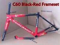 Wholesale Colnago Road Bike Frames - Best selling Good quality Black-Red Colnago carbon bike Frameset T1000 3K 1K C60 carbon road frame with BB386 free shipping