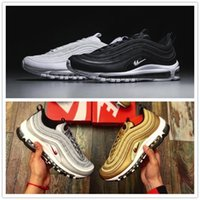 Wholesale Bullets Light - 14 Colors Maxes 97 OG Metallic Gold Silver Bullet Running Shoes Fashion High Quality Men Women Sneakers Sports Shoes Size 36-46 US 12