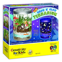Wholesale child fantasy - Wholesale creative children 's toys Creativity Terrarium will shine crystal bottles will grow plants