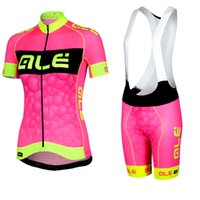 ALE Femmes Fluorescence Cycling Jersey Mountain Bike Bicycle Sportswear Ropa Ciclismo Short Sleeve Cycle Chine Vêtements bon marché B2202