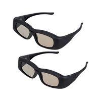 Wholesale active shutter 3d glasses - Wholesale- 2 X Universal 3D Active Shutter Glasses (Bluetooth) For Sony Panasonic Sharp Toshiba Mitsubishi Samsung 3DTV