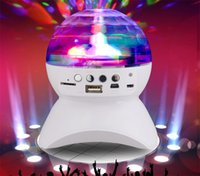 new dj mp3 NZ - Wholesale-New LED Stage Effect Lights Portable Stereo Mini Bluetooth Speaker Colorful with MP3 Speaker FM for Party KTV Disco DJ