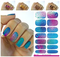 Wholesale Wholesale Decorative Foil Transfer - Wholesale- K640 New fashion water transfer foil nail stickers all kinds of nail art design patterns fashion decorative decal