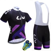 Wholesale Woman Cycling Jersey Blue - 2017 LIV Cycling Jerseys Summer Style Women Short Sleeves Bike Wear MTB Ropa Ciclsimo Quick Dry Bicycle Clothing Short sleeves bib shorts