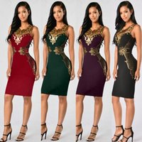 Wholesale Lace Floral Slim Prom Dress - Sexy Tight Pencil Evening Dress 2017 Fashion Design Lace Decoration Formal Prom Party Bandage Dresses Sexy Clubwear Slim Package Hip Dresses
