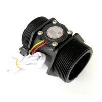 Wholesale Turbine 24v - Freeshipping Water Flow Sensor DN50 3-24V 2.0 Inch 10-200L min Diameter Turbine Flowmeter Hall Sensor Flow Meter Switch Counter