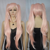 Wholesale Pink Pigtails - Pink pigtails cosplay wigs