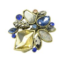 Wholesale Design Ring Vintage - Fashion Vintage Style Colorful Rhinestone New Design Rings