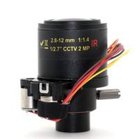 Wholesale Ir Mega 12mm - 2MP 2.8mm-12mm lens 1:1.4 IR 1 2.7 IR Mega Pixel Auto Zoom Lens M12 for cctv Security ip Camera