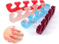 Wholesale Toe Separator Finger Spacer - 200pcs lot Fast shipping Silicone Toe Separator Finger Spacer For Nail art Nail Tools Flexible Soft Silica Toe Separators