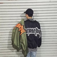 Wholesale Coat Acket - YPAD American Justin bieber PURPOSE TOUR STAFF Oversize Fear Of God Mens flight suit MA1 acket men clothing on kanye west coat