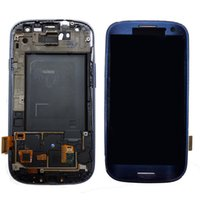 Wholesale Galaxy S3 Lcd Digitizer Replacement - Repair New Original For Samsung Galaxy S3 i9300 i747 T999 i535 R530 L710 LCD Touch Screen Digitizer Replacements With Frame Free Shipping
