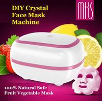 Wholesale Crystal Facial Machine - 2017 New High Quality MKS NV8328 CRYSTAL Face Mask Machine 100% Natural DIY Fruit Vegetable Mask Facial Mask Maker facial machine