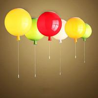 kinderzimmer decke großhandel-Neuheit-Farben-Ballon-Deckenleuchte-modernes Art-Restaurant-ein Wohnzimmer-Licht Kinderschlafzimmer-Lampe lamparas de techo