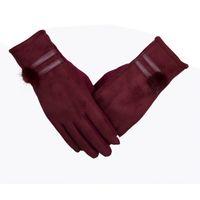 Wholesale Worm Gloves - Female rabbit fur ball Gloves Mittens Women Autumn Winter Outdoor Worm Inverted Cashmere Soft Mittens Wrist Touch Screen Gloves