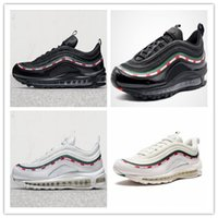 Wholesale Reflective Outdoor - 2017 Max 97 3M REFLECTIVE OG  UNDFTD UNDEFEATED BLACK SPEED RED GREEN speed red-white Running Shoes Men Women Trainers Sport Shoe