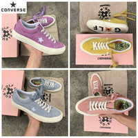 Wholesale X Hot Golf - 2017 Hot Converse One Star x Golf le Fleur Chuck Casual Fashion Canvas Fur Designer Pink Blue Yellow Running Skateboard Shoes Sneakers 35-44