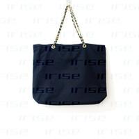 Wholesale Vanity Handbag - New fashion black canvas shoulder bag luxury handbag chain clutch bag designer tote shopping beach vanity purse boutique VIP gift wholesale