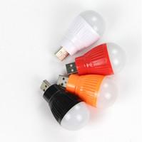 Wholesale Edison Socket - LED USB small bulb socket bulb Mini Color LED bulb lamp outdoor night emergency lighting