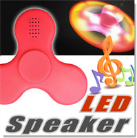Wholesale E104 F100 New LED Light MINI Bluetooth Hand Fidget Spinner Music Speaker Perfect For ADD ADHD Autism and Pressure Relief Finger Toy