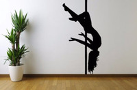 Wholesale Strip Poles - Wall Vinyl Sticker Room Decal Mural Design Strip Sexy Girl Pole Dance 22inx35in Stickers Vinyl Wall Art Mural