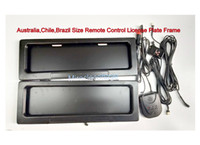 Wholesale Stealth Remote - Australia Chile Brazil AU Car Size Remote Control Curtain Shutter Hide Away License Plate Frame,STEALTH HIDDEN LICENSE PLATE HOLDER