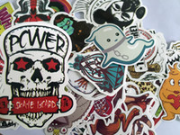 Wholesale Pc Laptop Covers - 100 pcs Car Small Stickers Home Funny Jdm Skateboard Motorcycle Laptop Stickers Car covers DIY Vinyl.
