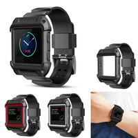 Wholesale Apple Integrated - For Fitbit Blaze Band [Integrated] [Silicone Band and Case] [Shockproof] Protective Strap Band for Apple Iwatch Series 1 & Series 2