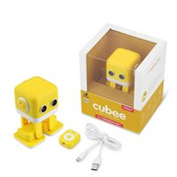 RC Cubee Intelligent Robot Remote Control Robot intelligenti Walk Slide Danza Music Talk Demostration Interactive Inductive Education Toys