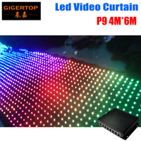 Wholesale mode video online - High Quality Pitch9 M M Led Video Curtain PC Mode Controller Tricolor IN1 LED Video Curtain For Wedding Backdrops