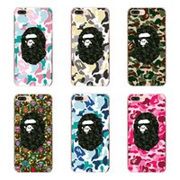 Wholesale Designed Cases For Iphone 5c - Fashion camouflage personality ape design pattern clear PC hard case for iphone 6 6s 7 Plus 4s 5c 5s 5SE transparent phone cover