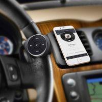 random radio بالجملة-NEW زر الوسائط اللاسلكية بلوتوث لتوجيه Sandlebar الملحقات التحكم عن بعد ل iPhone MP3 تشغيل الموسيقى للسيارة ، دراجة نارية ، دراجة