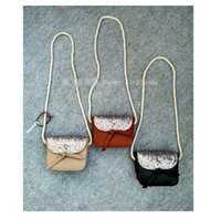 Wholesale glitter coin purses wholesale - INS Children Crossbody Bag for Girls Cool Gold Sequins Bow Kids Fringe Bag Bow Messenger Bags Handmade Small Bag Coin Purse glitter C001