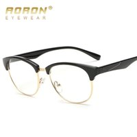 Wholesale 2017 AORON Vintage Unisex Round Glasses Women s Leisure Girl s Fashion Cute Eyewear Accessories Retro Plain Mirror S8810