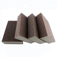 Wholesale Sand Abrasives - 10pcs 120grit Abrasive Foam Sanding Sponge Block Wood Furniture Wall Corner Grinding Abrasive Hand Tool Accessories