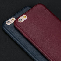 Wholesale Iphone Leather Texture Case - Top Quality Super Thin Comfort Pattern Texture Cell Phone Cases for iPhone 5 5S SE 6 6S 6Plus 7 7Plus Luxury Soft TPU Back Cover