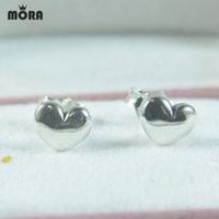 Wholesale Diy Silver Pandora Charm Earrings - Perfect Gifts Hearts Stud Earrings S925 sterling silver charms fit european pandora style bracelets & necklaces fashion diy fine jewelry