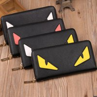 Wholesale devil cards - New designer wallet famous brand women wallet and purse clutch leather devil eyes wallet ladies Famous Brand purse
