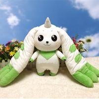 ücretsiz cosplay oyuncaklar toptan satış-Toplama İçin Doldurulmuş Hayvanlar Ücretsiz Kargo Digimon Adventure Terriermon Cosplay Uzun Kulaklar Peluş Bebek Oyuncak Hediye 45cm